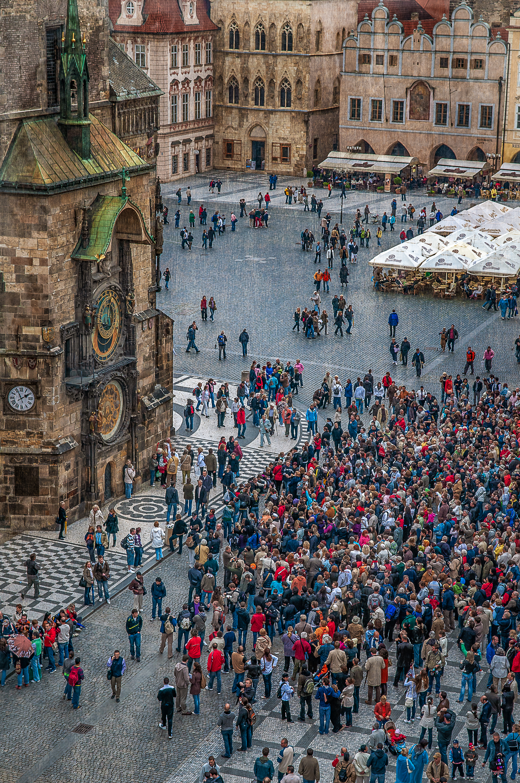 Reloj astronómico en la Ciudad Vieja de Praga